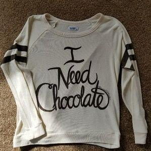 I Need Chocolate Sweater